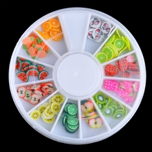3D Nail Art Fimo Soft Polymer Clay Fruit Slices Cartoon For Nail Manicure Sticker Cell Phones DIY Designs Wheel Decoration CZP35 3d nail art fimo soft polymer clay fruit slices cartoon for nail manicure sticker cell phones diy designs wheel decoration czp35