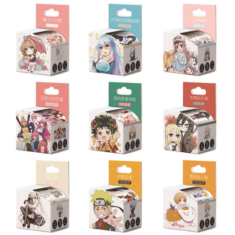 4 Cm * 5 M Anime Q Versie Cartoon Washi Tape Plakband Diy Scrapbooking Sticker Label Afplakband