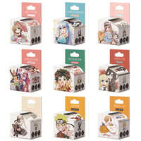 4 cm * 5 m Anime Q versión dibujos animados Washi cinta adhesiva DIY Scrapbooking etiqueta adhesiva cinta adhesiva