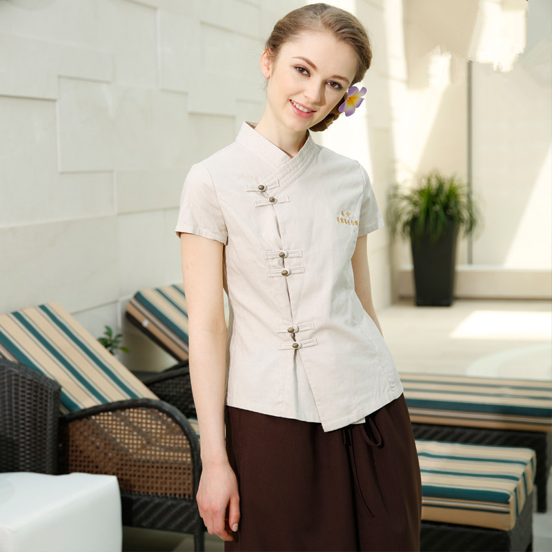 Popular spa uniform buy cheap spa uniform lots from china for Spa uniform supplier in singapore