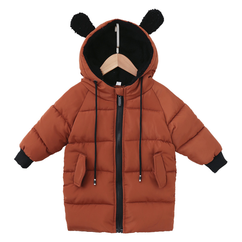 2018 high-end! winter Thickening warm long design baby boys girls Kids Children down jacket Hooded coat parka Outerwear B41 5 14y high quality boys thick down jacket 2016 new winter children long sections warm coat clothing boys hooded down outerwear