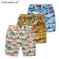 Casual Boys Print Shorts Kids Summer Clothes Cartoon Cars Elatisc Waist  Pants For 2~7Y Boy Children Boys Beach Shorts CI030