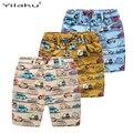 Muchachos ocasionales de Impresión Cortos de Verano de Los Cabritos Ropa de la Historieta Coches Elatisc Cintura Pantalones Para 2 ~ 7Y Niño Niños Niños Playa Shorts CI030