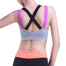 Brazilian Sports Bra Cross Yoga Bras Female Fitness Anti-sweat Quick-drying Athletic Vest Shakeproof Gym Shapewear for Running