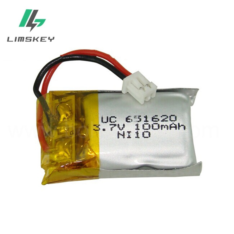 3pcs/lot <font><b>3.7V</b></font> <font><b>100mAH</b></font> 651620 lipo <font><b>battery</b></font> for Rc airplane rc helicopter <font><b>3.7V</b></font> <font><b>100mAH</b></font> <font><b>lithium</b></font> <font><b>battery</b></font> with 1.25mm plug image