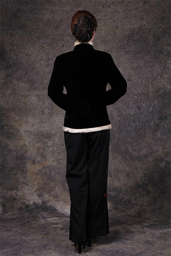 Chinois Noir À Bouton Tailles Automne Livraison Velours Printemps Hiver Slim Collar Manteau Solide Outwear Dame Xxxl Veste Gratuite Mandarin wqTxxnO1