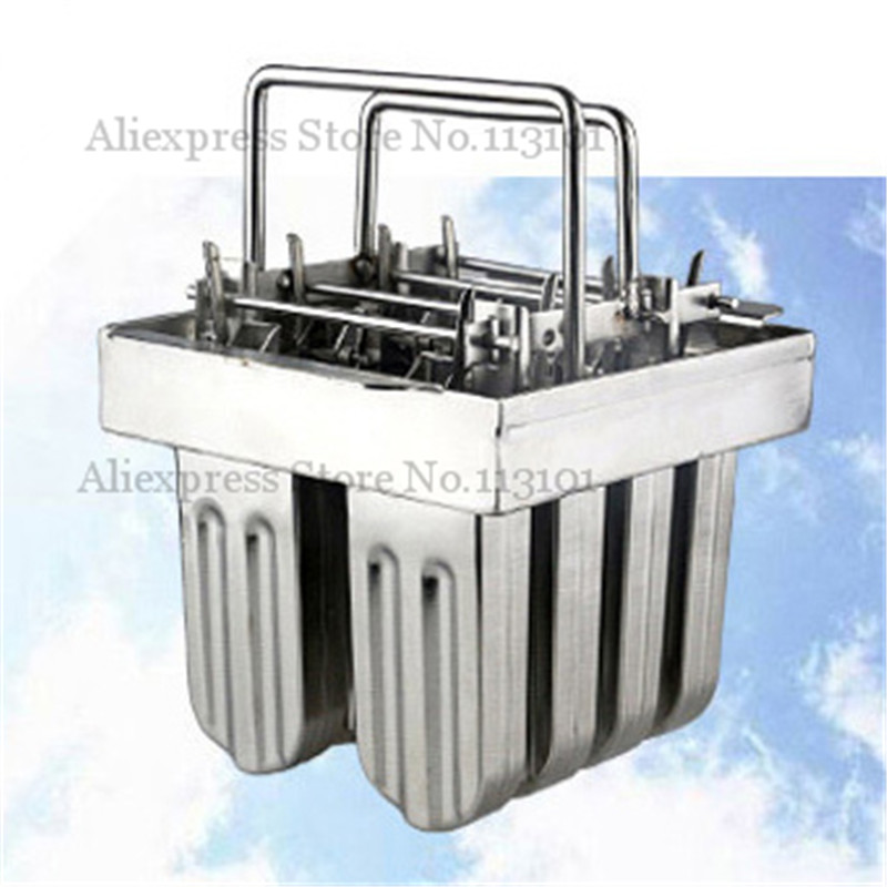 8pcs/Batch Stainless Steel Popsicle Mold Makes 8pcs Pop Popsicle Ice Pops with Sticks Holder