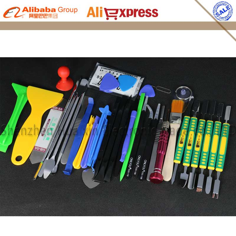 38 in 1 New upgrade All Phone Opening Repair Tools Screwdrivers Set Kit Carving knife ESD Tweezers For iPhone Ipad Samsung цена