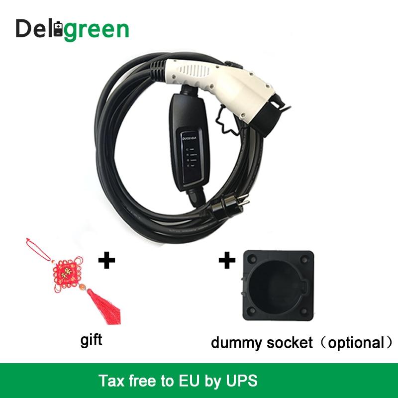 Duosida Уровень 2 EV зарядное устройство 16A тип 1 EVSE Электрический автомобильный зарядный контроллер Настенный бокс мод с Schuko разъемы