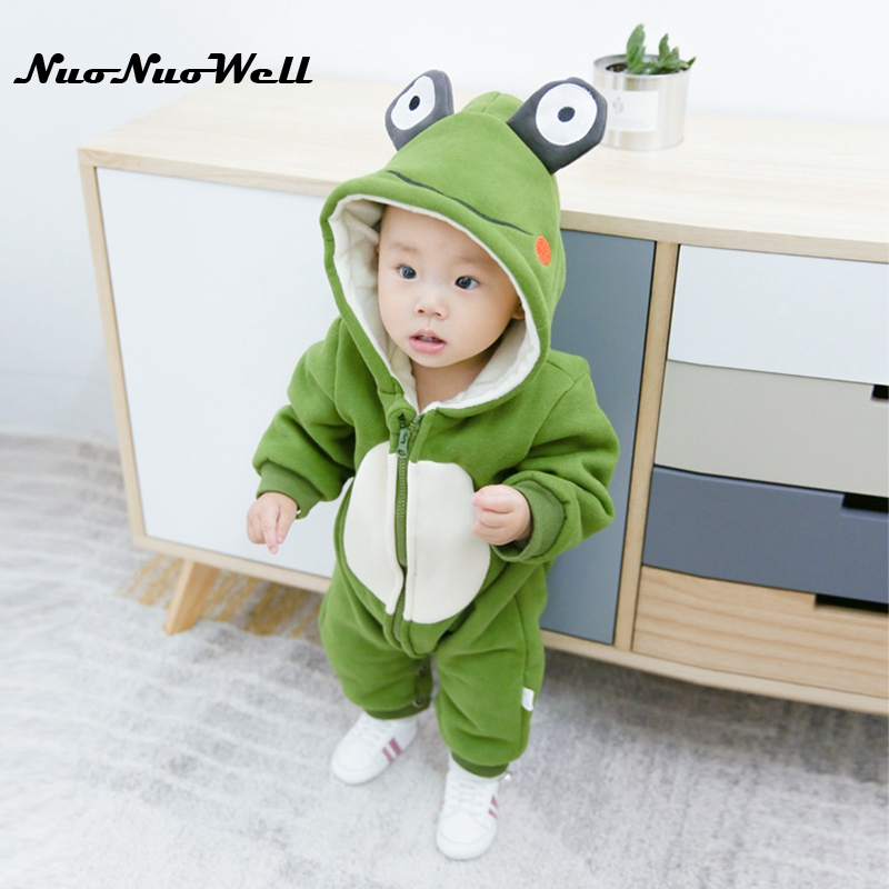Newborn Baby Winter Romper Infant Baby Girl Boy Clothes Cute Romper Thick Jumpsuit Playsuit Warm Kids Rompers for 0-2 years 2017 new baby rompers winter thick warm baby girl boy clothing long sleeve hooded jumpsuit kids newborn outwear for 1 3t