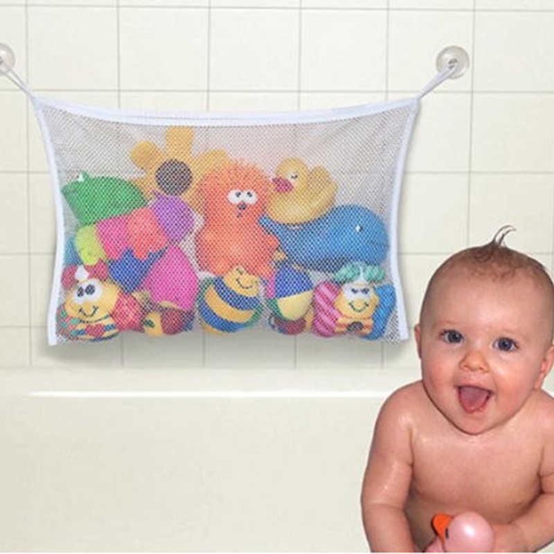 Детская ванна с сеткой для хранения на присоске Складная подвесная сетка сумка Экологичная Высококачественная ванная комната игрушки для ванной Младенческая Ванна игрушки MBG0342