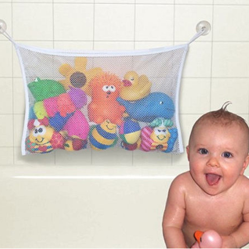 Baby Bath Net Suction Storage Folding Hanging Mesh Bag Eco-Friendly High Quality Bathroom Shower Toy Infant Tub Toys MBG0342