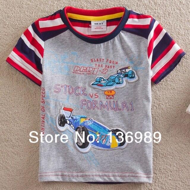 NEAT New free shipping kids clothes T shirt boy 100% cotton printing boy shirts short sleeve T-shirt fashion car model S8115#