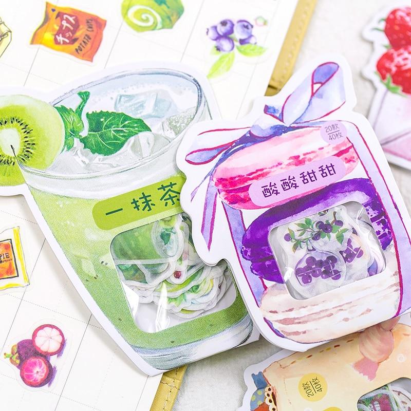 Creative Delicious food Paper Sticker Decoration Diary Scrapbooking Label Sticker Kawaii Korean Stat