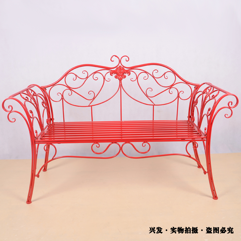 manufacturers continental iron chairs outdoor furniture sofa bed long double chair park benches leisure chair bed bench furniture