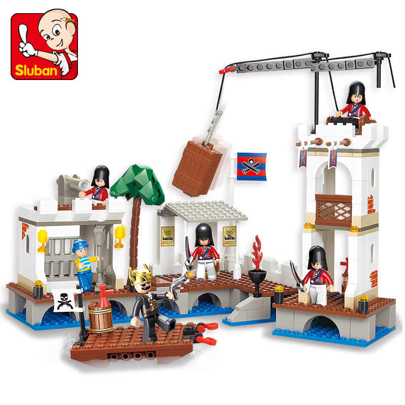 Sluban m38-0280 339PCS Pirati Dei Caraibi-attacco port royal. Legoings giocattoli per i bambini educational building block