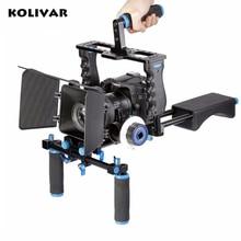KOLIVAR DSLR Rig Video Stabilizer Shoulder Mount Rig+Matte Box+Follow Focus Dslr Cage for Canon Nikon Sony DSLR  Video Camcorder