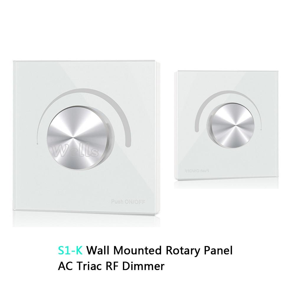 Aroma In Humor S1-k Hochspannung Wand Montiert Panel 100v-240vac Hinterkante Dimmen Ac Triac Rf FÜhrte Dimmer Panel Controller Duftendes
