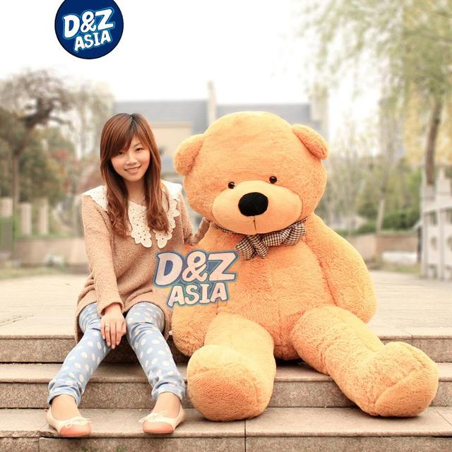 Lowest 2015 new life size teddy bear giant teddy bear plush toys plush bear toy for 200cm pillow Stuffed TV&Movie character
