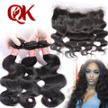 Grade 8A Brazilian Virgin Hair With frontal Cheap Brazilian Human Hair Weave 3 Bundles Body Wave With Lace frontal Closure