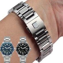 Высокое Качество Твердая нержавеющая сталь Ремешки для наручных часов для TAG bands Heuer CARRERA AQUARACER ремешок мм 22 мм для мужчин металлические часы браслеты
