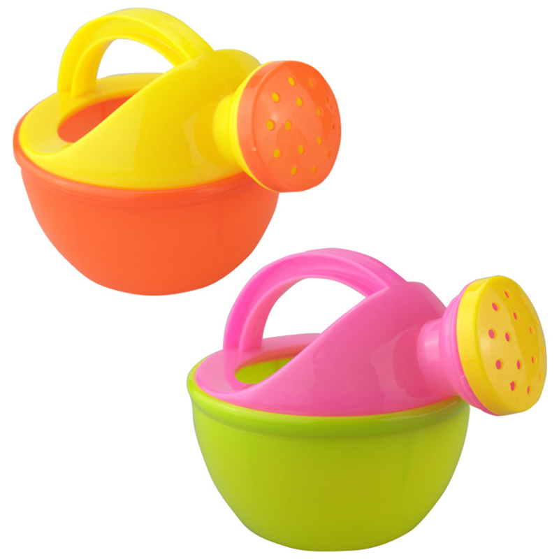 1PCS Baby Bath Toy Colorful Plastic Watering Can Watering Pot Beach Toy Play Sand Shower Bath Toy for children Kids Gift 1