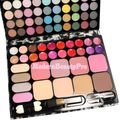 New 72 Color Eye Shadow Lip Gloss Blush Cosmetic Makeup Set Palette Brush