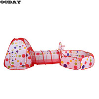 Baby Toy Tent Portable Folding Pop Up Tunnel Kids Crawling Play Tent Play House For Ocean
