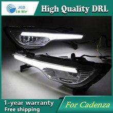 Бесплатная доставка! 12 В 6000 К СИД DRL дневного света для KIA Cadenza 2011 2012 противотуманная фара рамка Противотуманная Фара стайлинга автомобилей