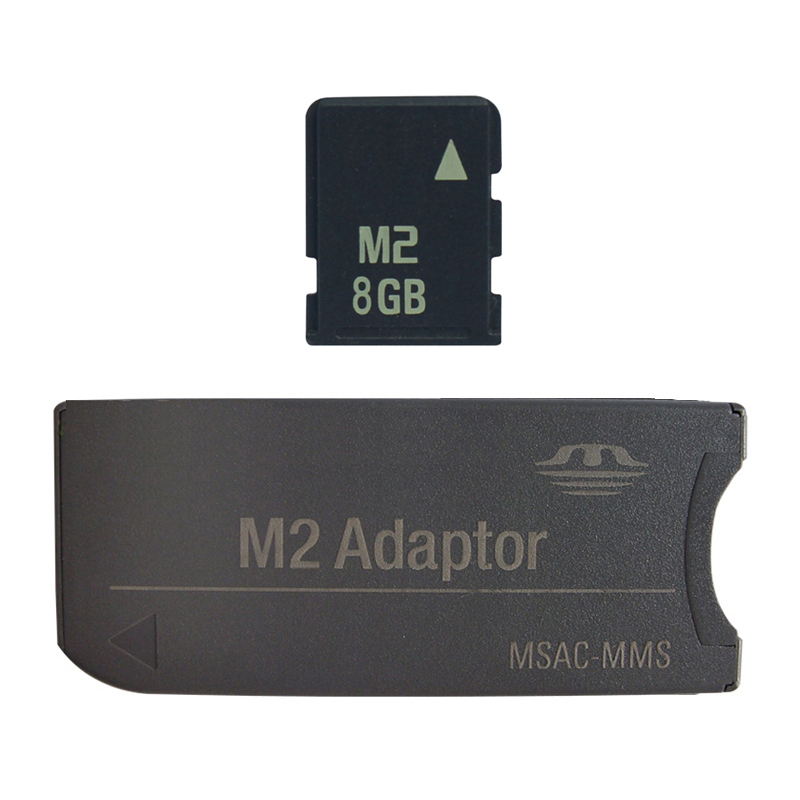 Big Promotion 8GB Memory Stick Micro Camera Phone Memory Card M2 Card With Adapter MS PRO DUO