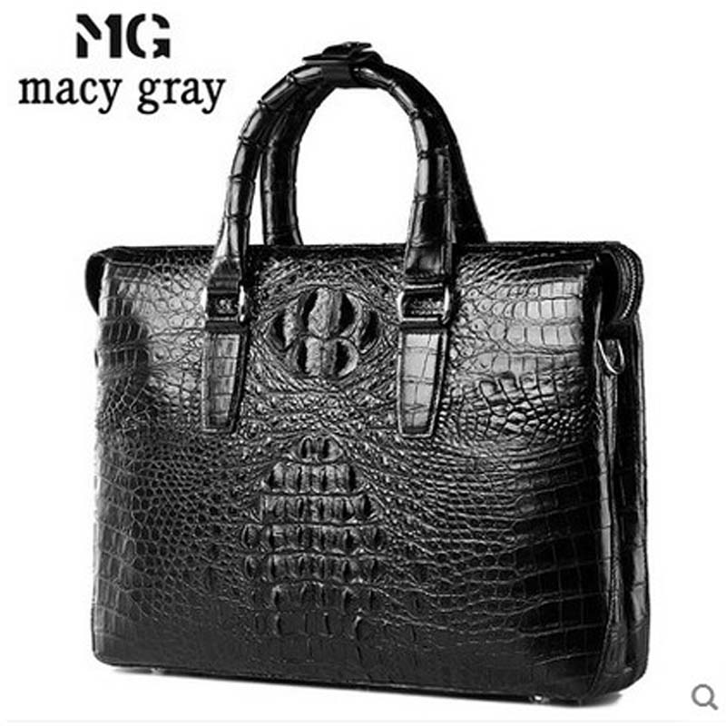 meixigelei new hot Alligator men handbag business crocodile skin men bag one-shoulder men bag