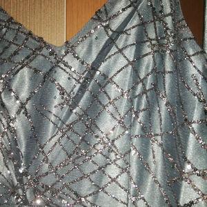 Image 5 - 패션 긴 이브닝 가운 2020 섹시한 이브닝 드레스 브이 넥 새틴 백 레스 a 라인 바닥 길이 슬릿 슬림 공식 파티 드레스 파티