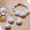 925 серебряных ювелирных изделий устанавливает, Серебряный цветок одуванчика, Серебро открытым, Браслет, Крюк серьги, Кольцо S250