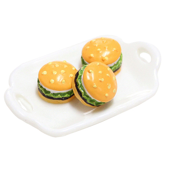 5Pcs Mini Hamburger Supplement Charms Filler Addition for Slime DIY Polymer Accessories Toy Lizun Modeling Clay Kit for Kids 1