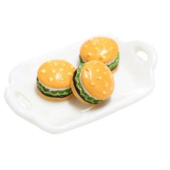 5 Pcs Mini Suplemento de Hambúrguer Encantos Adição de Lodo para Slime DIY Acessórios de polímero Brinquedo Lizun Modelagem Kit de argila para crianças 1