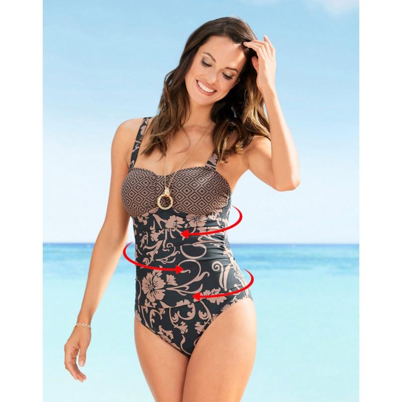 LI-FI 2019 New One Piece Swimsuit Plus Size Swimwear Women Classic Vintage Bathing Suits Beachwear Backless Slim Swim Wear M~2XL