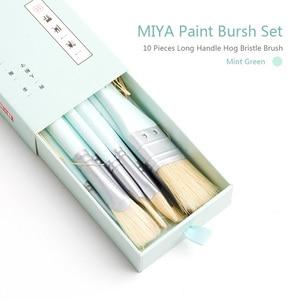 Image 5 - MIYA 10 PCS Artist Paint Brush Set Bristle Hair Watercolor Acrylic Oil Painting Brushes Art Supplies