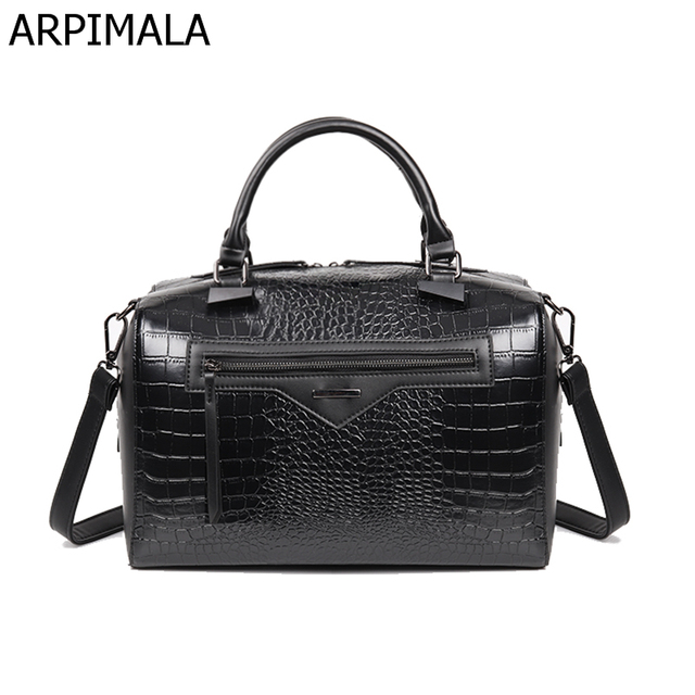 ARPIMALA 2018 Big Luxury Leather Handbags Women Bag Women Messenger Bag Snake Handbag Famous Brand Designer Tote Ladies Hand Bag