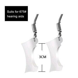 Image 2 - 100 個 BTE 補聴器保護スリーブホルダーカバージャケット保護脱落から補聴器