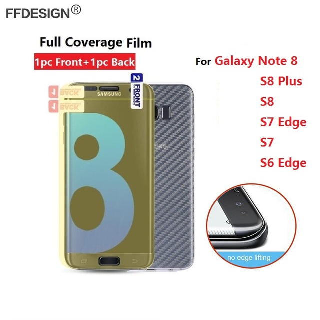 Full Coverage Nano Protective Foil Film For Samsung Galaxy S8 Plus Note 8 S6 S7 Edge Screen Protection Film (Not Tempered Glass)