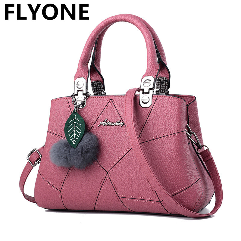 New Sale PU Leather Women Handbags with Fur Top-Handle Women Bag Purse Ladies Shoulder Bag Crossbody Messenger Casual Tote Black пилочка для ногтей leslie store 10 4sides 10pcs lot