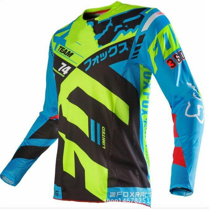 Prix pour Moto maillots 2016 Nouveau Hors-route Moto Racing Équitation Accélérer la Remise du Profond Col V Absorbant L'humidité et Rapide séchage