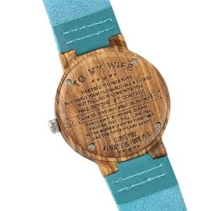 Image 5 - 刻ま DIY カスタム単語に私の妻私ソウルメイト時計木製腕時計レディース時計時間女性の妻のアニバーサリーギフト私の天使