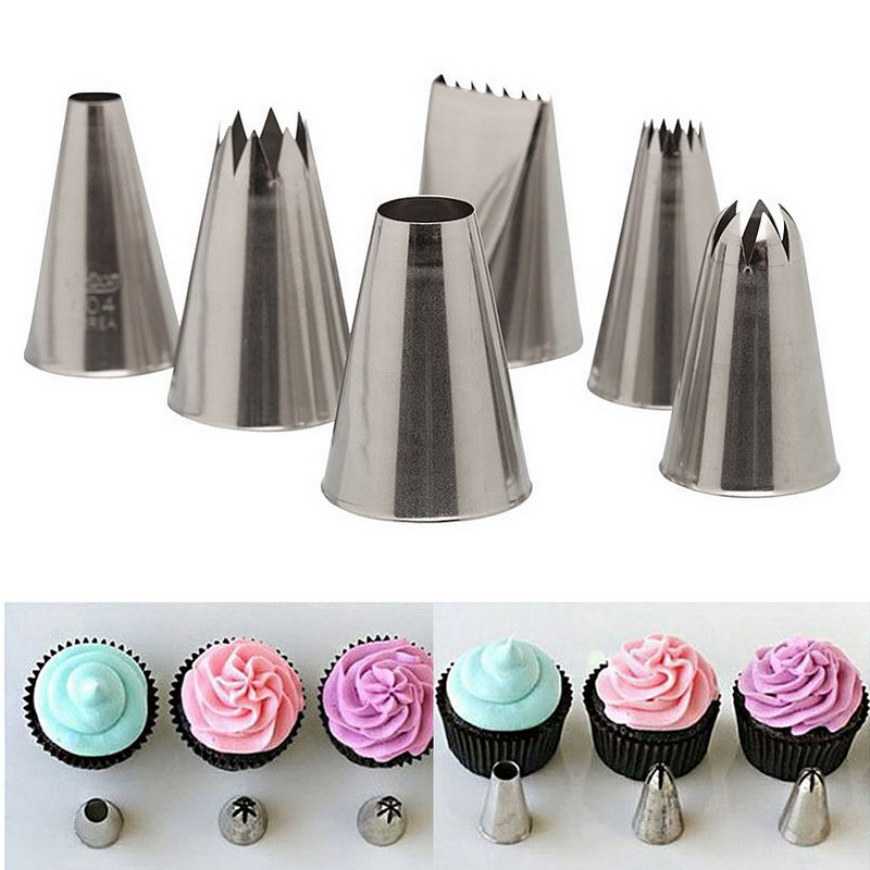 Decorator Tips aliexpress : buy 6pcs/lot russian tulip stainless steel icing