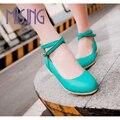 Горячие продаж женская мода квартиры обувь Весна Осень Удобные Повседневная Обувь кросс-привязанные круглым носком, Босоножки, Пряжки обувь для женщин