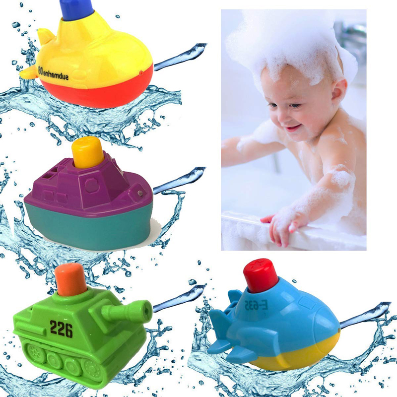 Toys & Hobbies Classic Toys 4pcs/set Baby Mini Cute Bath Toys Float Boat Cool Swimming Pool Beach Bathroom Ship Water Floating Play Toys For Toddler
