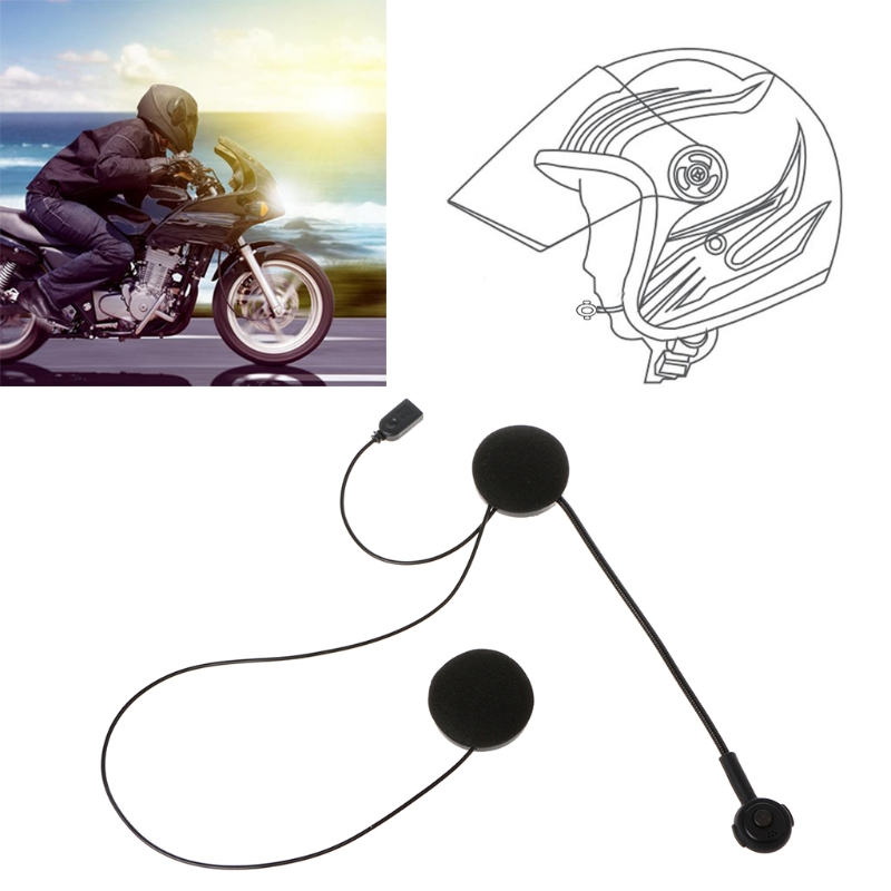 OOTDTY Motorcycle Helmet Bluetooth Wireless Intercom Headset Earphone Headphone Speaker Handsfree For MP3 MP4 Smartphone 500m motorcycle helmet bluetooth headset wireless intercom