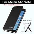 """Meizu m2 note caso luxo original pu capa de couro da aleta caso com suporte para meizu m 2 note fundas 5.5 """"casos"""