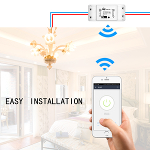 Image 4 - DIY WiFi חכם אור מתג אוניברסלי מפסק טיימר אלחוטי שלט רחוק עובד עם Alexa Google בית חכם בית 1 חתיכה