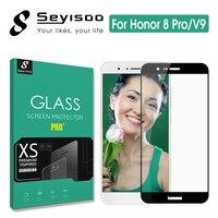 100% оригинал Seyisoo реальные 2.5D полное покрытие Экран протектор Закаленное Стекло для Huawei Honor 8 Pro 8Pro Honor V9 закаленная пленка